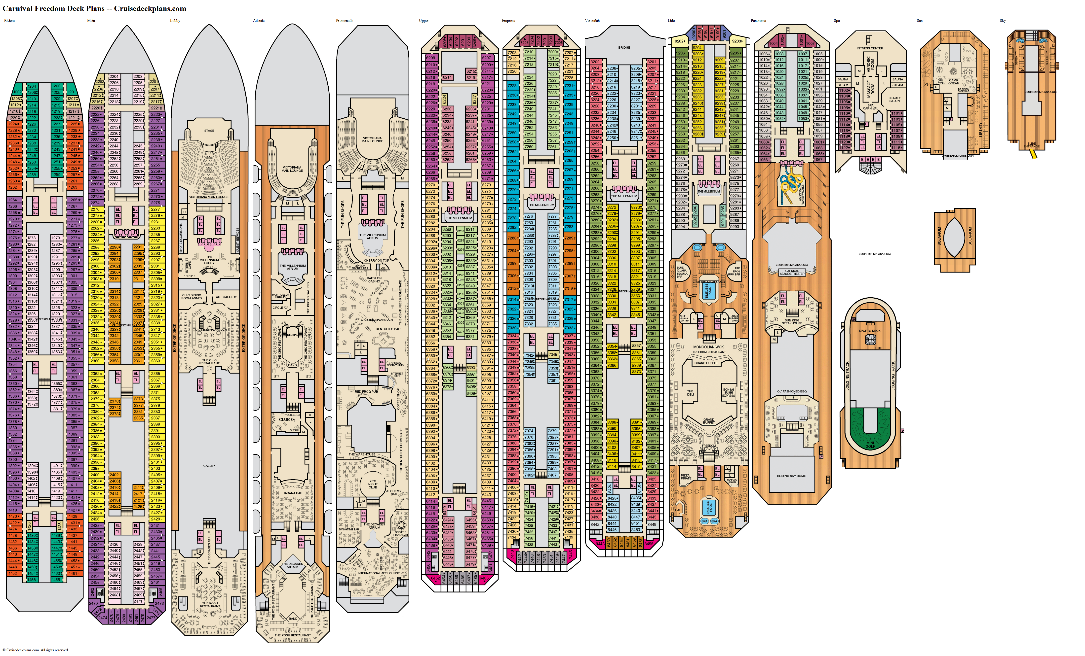 Carnival Freedom deck plans image