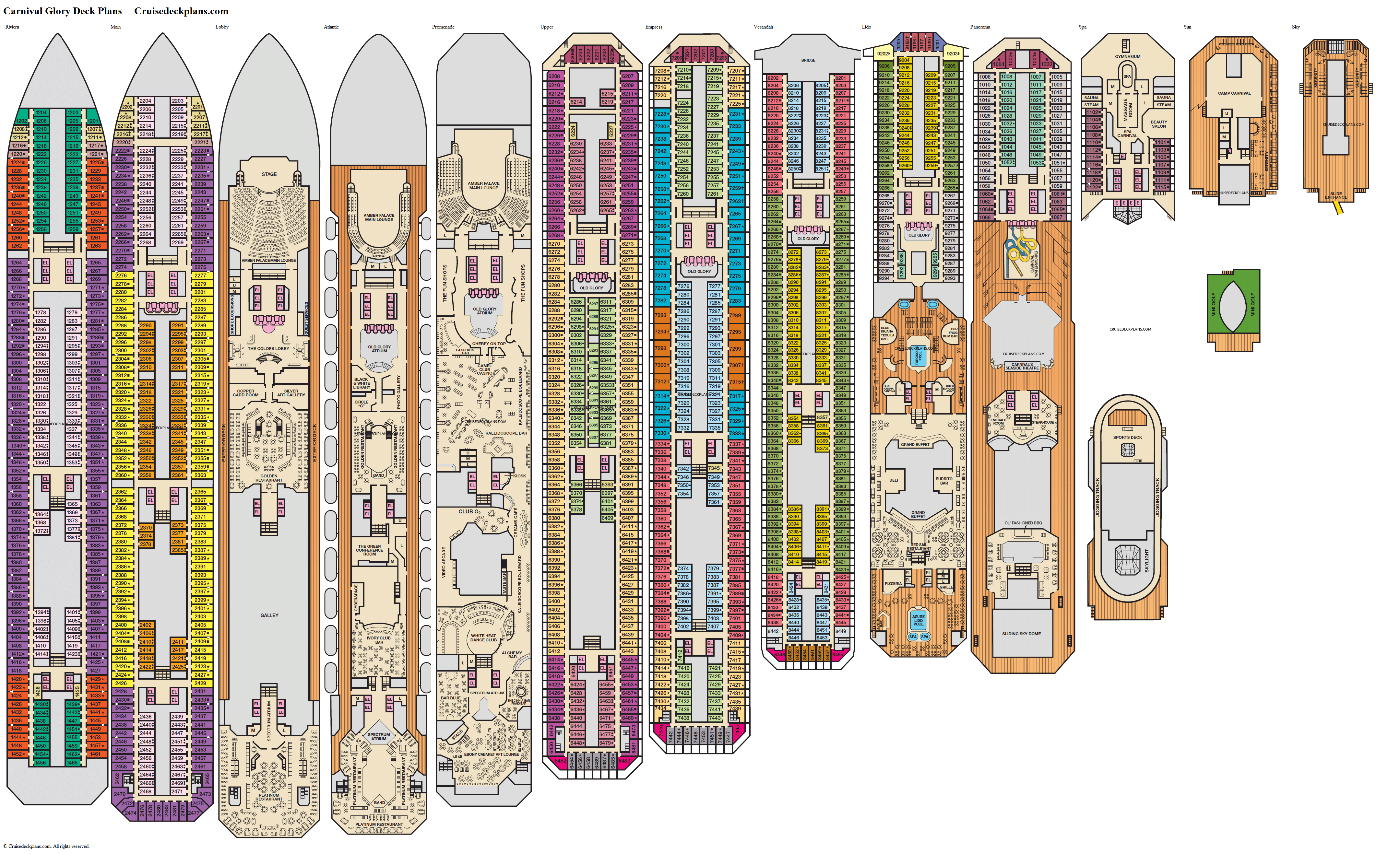Carnival Glory deck plans image