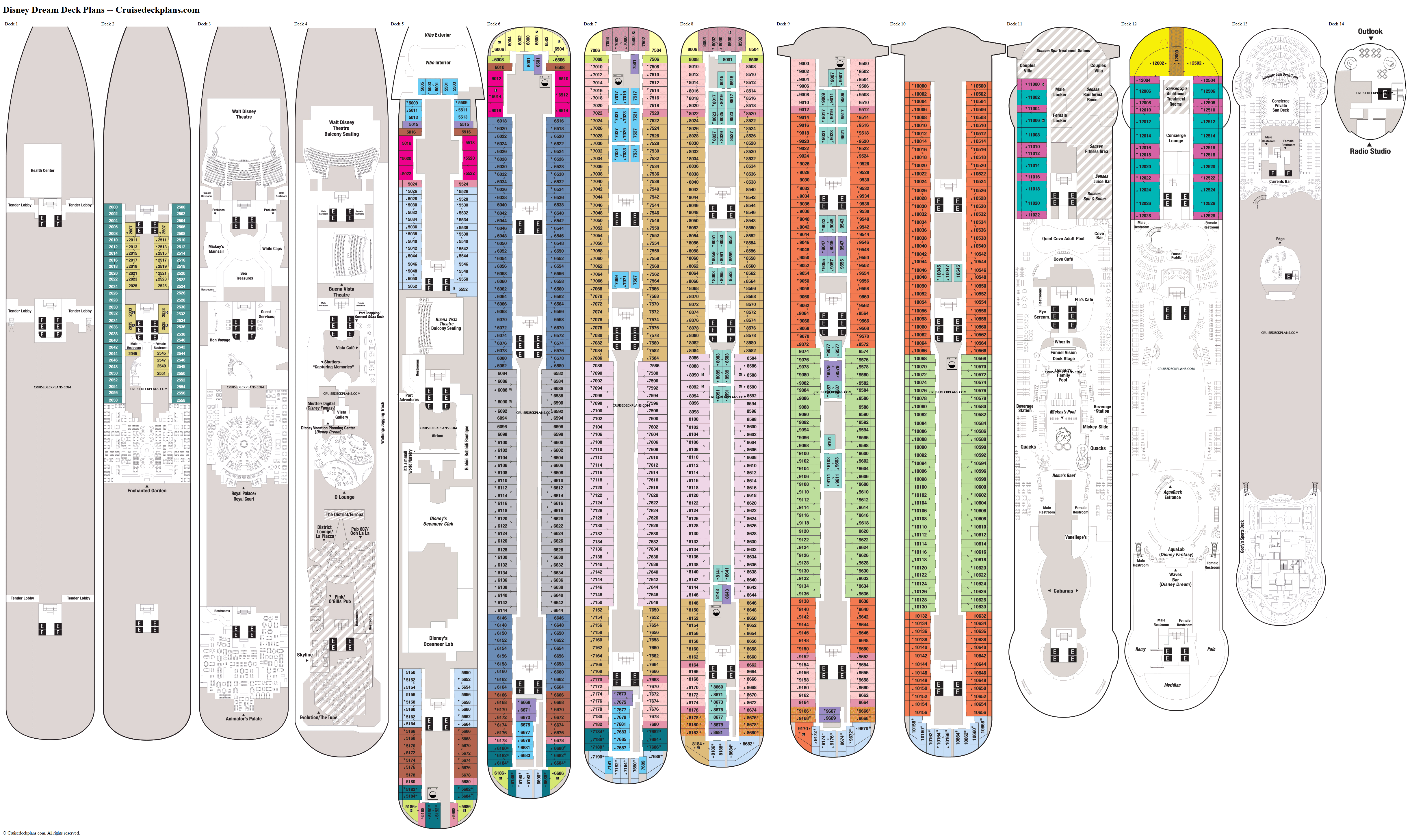 Disney Dream deck plans image