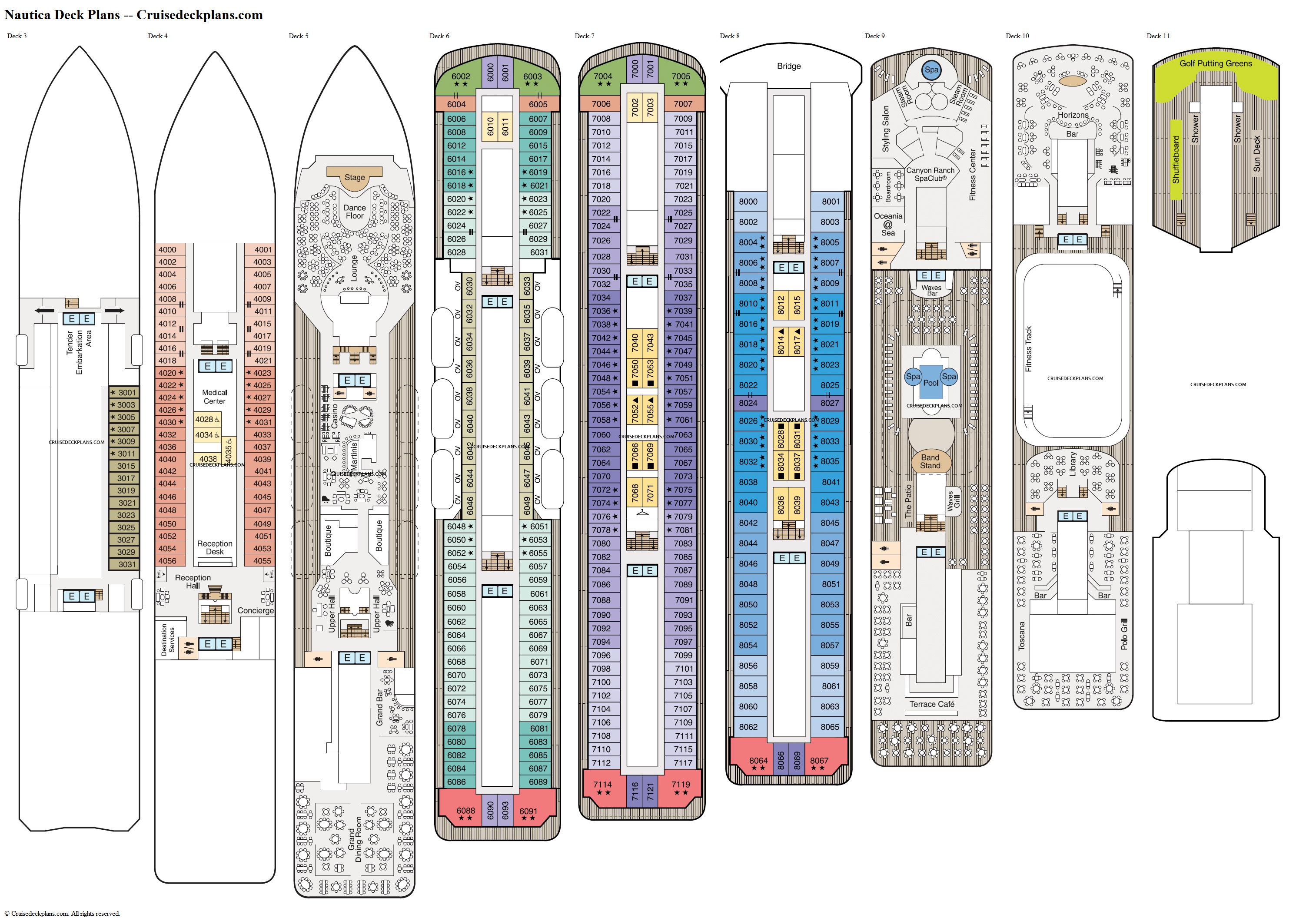 Nautica deck plans image