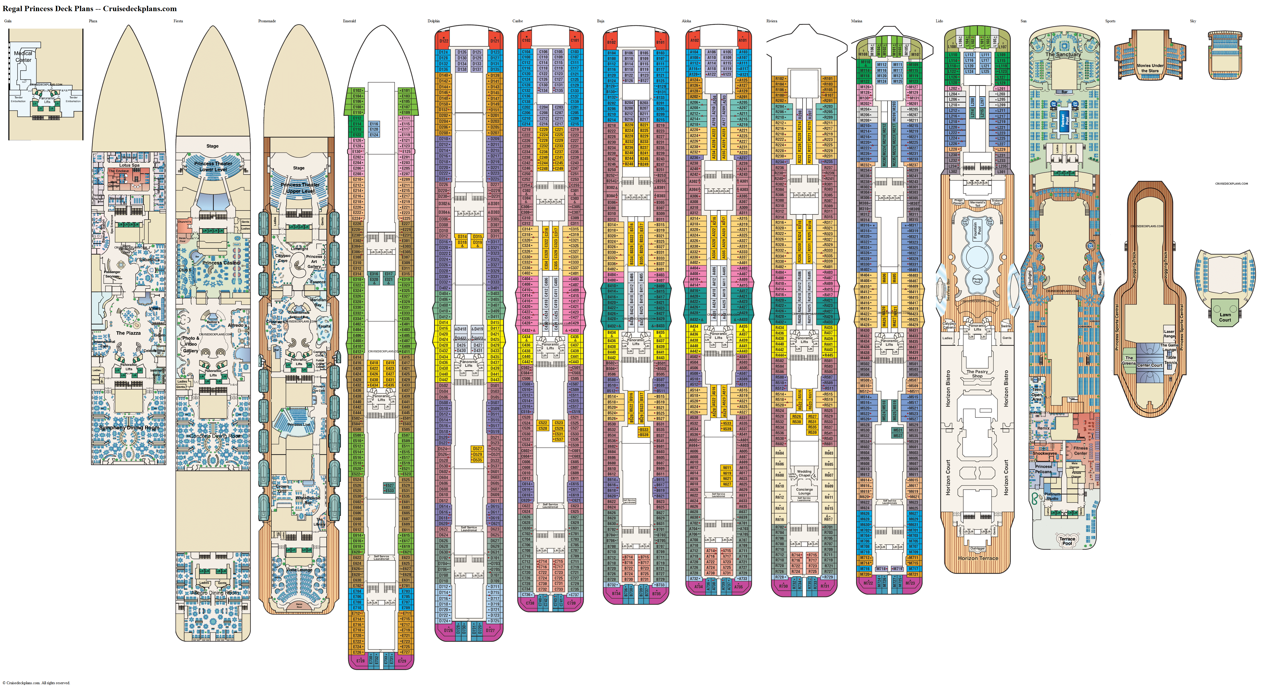 Regal Princess deck plans image