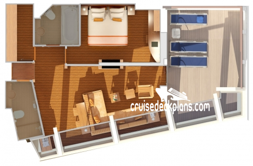Carnival Freedom Captains Suite Diagram Layout
