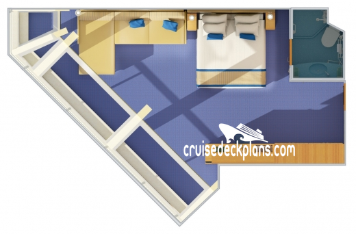 Carnival Freedom Scenic Oceanview Diagram Layout