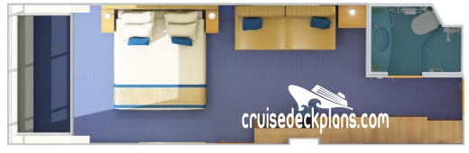 Carnival Glory Scenic Oceanview Diagram Layout