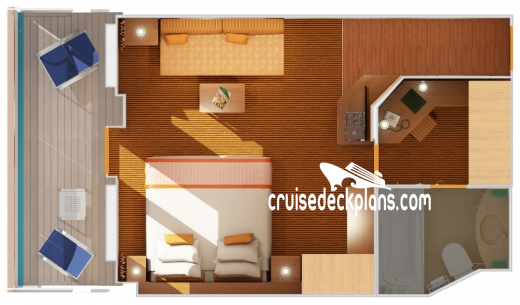 Carnival Radiance Ocean Suite Diagram Layout