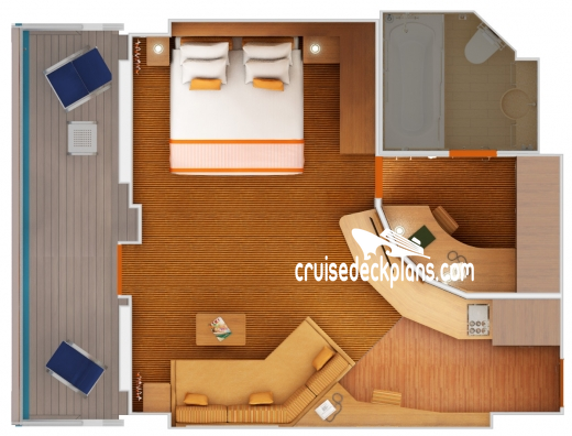 Carnival Radiance Grand Suite Diagram Layout