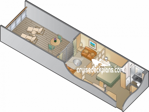 Celebrity Constellation Family Verandah Diagram Layout