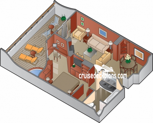 Celebrity Constellation Royal Suite Diagram Layout