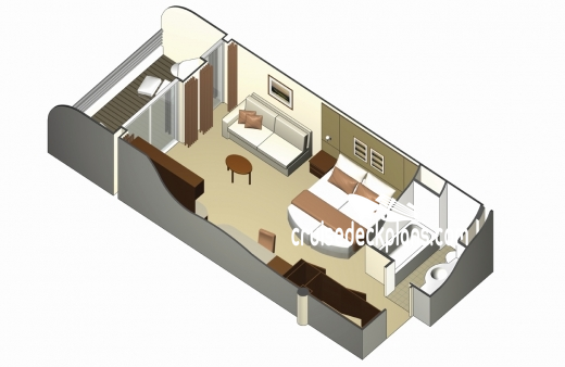Celebrity Eclipse Sky Suite Diagram Layout