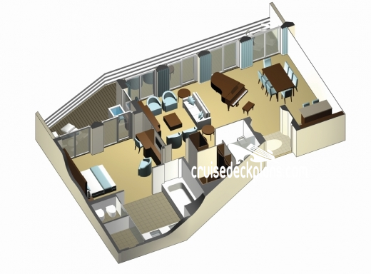 Celebrity Eclipse Penthouse Suite Diagram Layout
