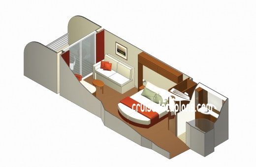 Celebrity Silhouette Verandah Diagram Layout