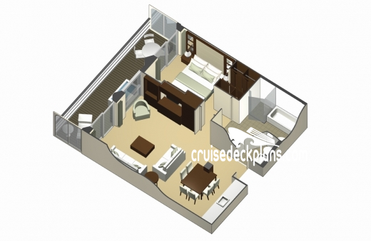 Celebrity Silhouette Royal Suite Diagram Layout