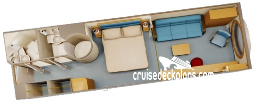 Disney Dream Family Oceanview Diagram Layout