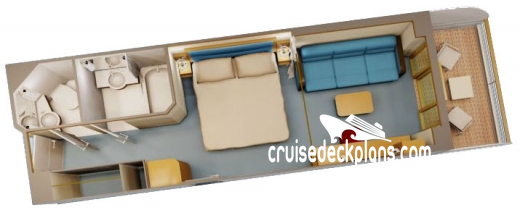 Disney Dream Deluxe Verandah Diagram Layout