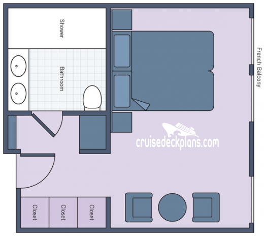 River Countess Suite Diagram Layout