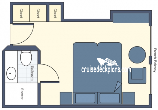 River Countess French Balcony Diagram Layout