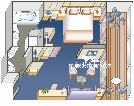 Royal Princess III Suite Diagram Layout
