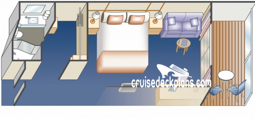 Royal Princess III Deluxe Balcony Diagram Layout