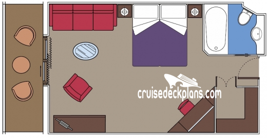 MSC Preziosa Balcony Suite Diagram Layout