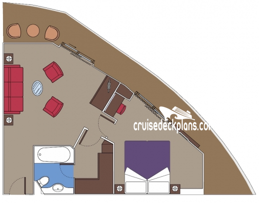 MSC Preziosa Yacht Club Royal Diagram Layout