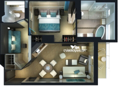 The Haven 2-Bedroom Family Villa diagram