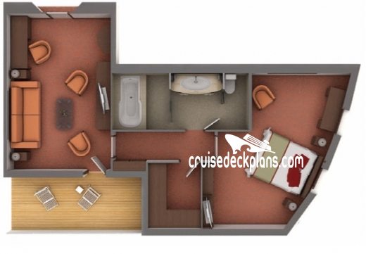 Silver Explorer Grand Suite Diagram Layout