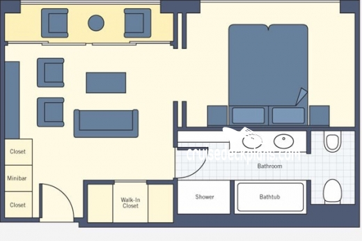 SS Catherine Royal Suite Diagram Layout