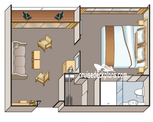 Viking Aegir Veranda Suite Diagram Layout