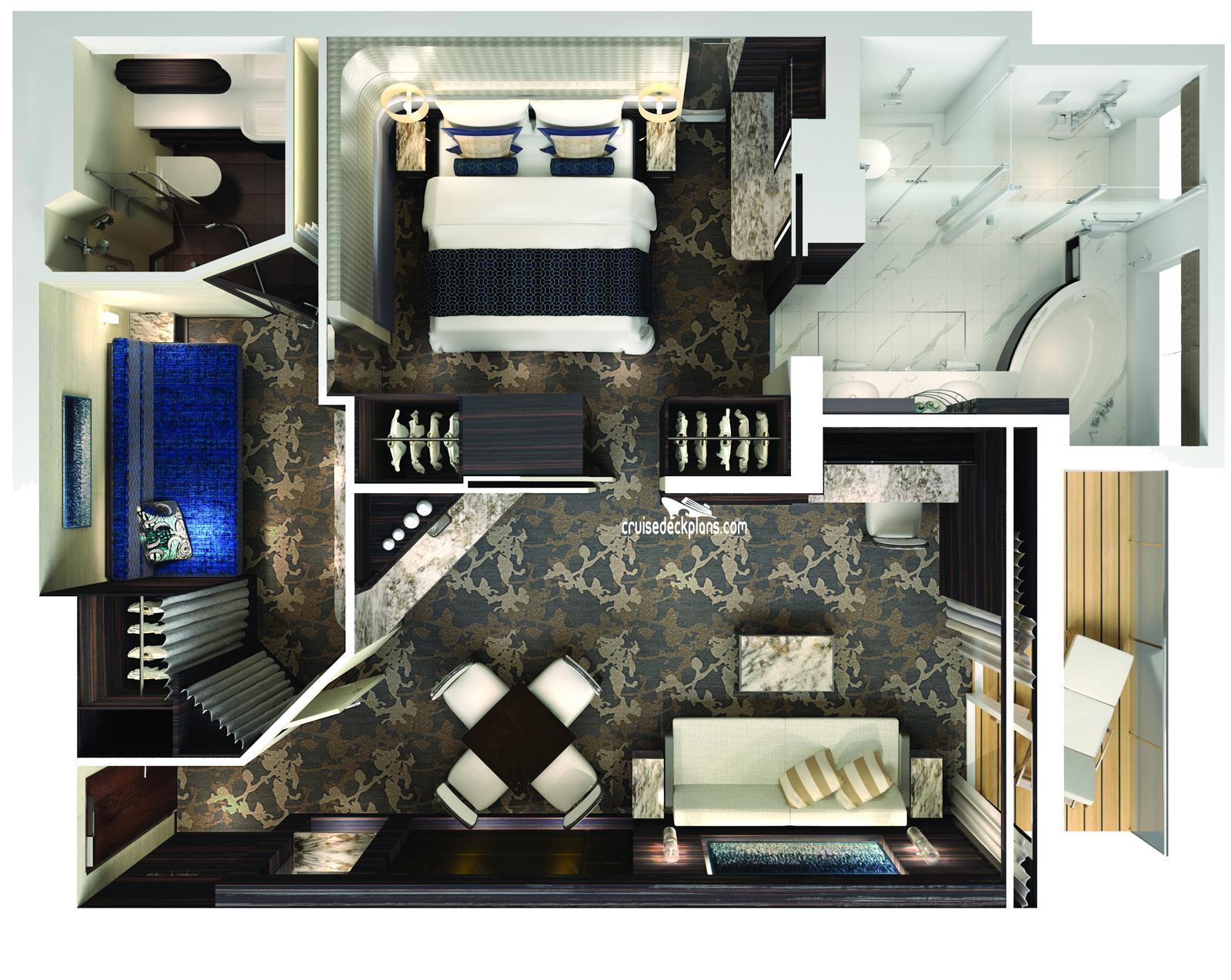 Norwegian Bliss The Haven 2 Bedroom Family Villa Stateroom