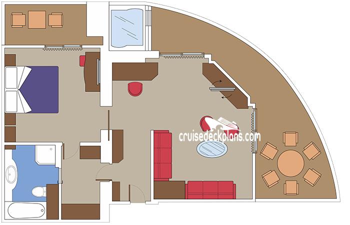 MSC Grandiosa Yacht Club Royal Suite Stateroom