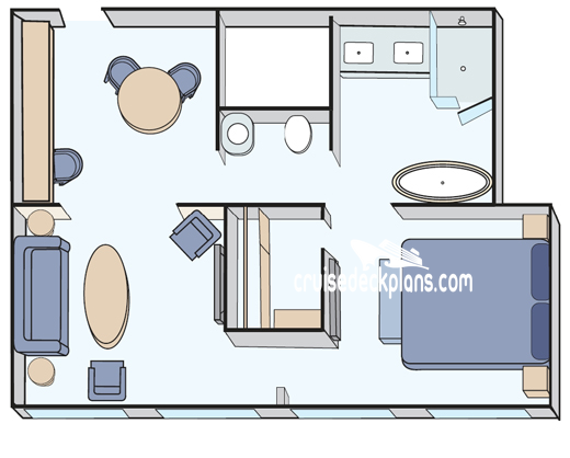 Crystal Esprit Owners Suite Diagram Layout