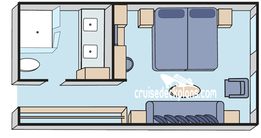 Crystal Esprit Yacht King Suite Diagram Layout