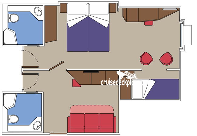 MSC Virtuosa Family Oceanview Diagram Layout