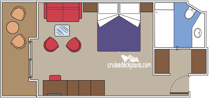 MSC Virtuosa Yacht Club Deluxe Suite Diagram Layout