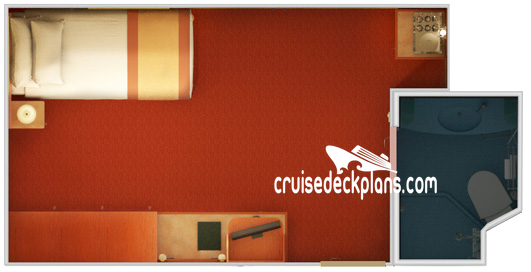 Carnival Freedom Small Interior Diagram Layout