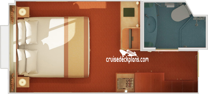 Carnival Freedom Interior with Picture Window Diagram Layout