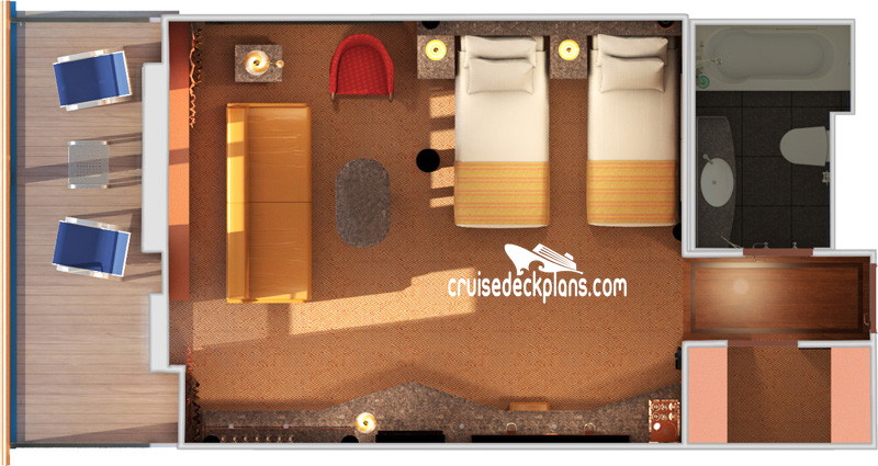Carnival Imagination Grand Suite Diagram Layout