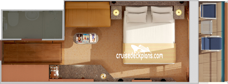 Carnival Fantasy Junior Suite Diagram Layout