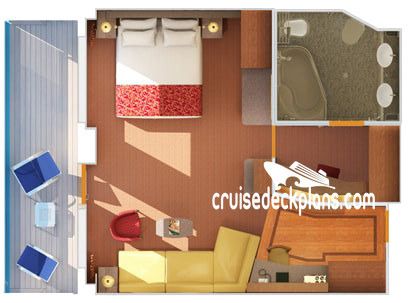 Carnival Freedom Grand Suite Diagram Layout