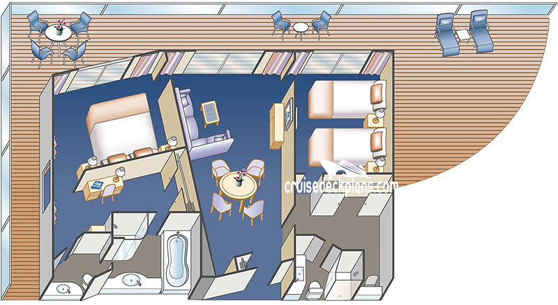 Discovery Princess Sky Suite Diagram Layout