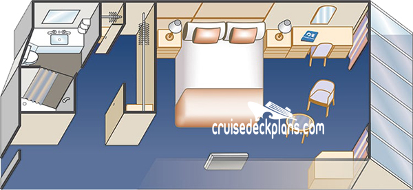 Sky Princess Deluxe Oceanview Diagram Layout
