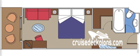 MSC Preziosa Yacht Club Deluxe Diagram Layout