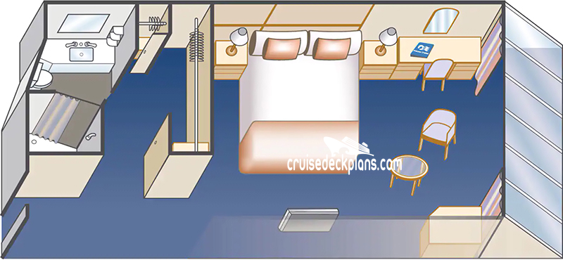 Discovery Princess Deluxe Oceanview Diagram Layout