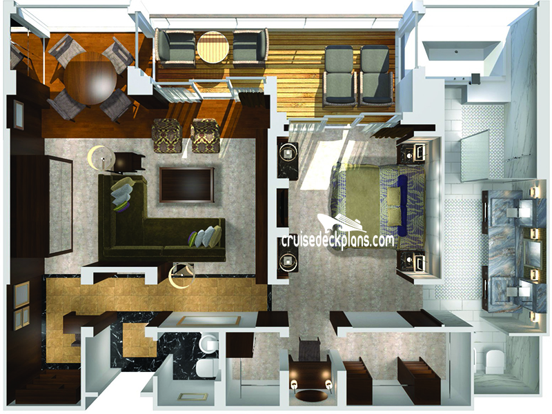 Crystal Symphony Crystal Penthouse Diagram Layout
